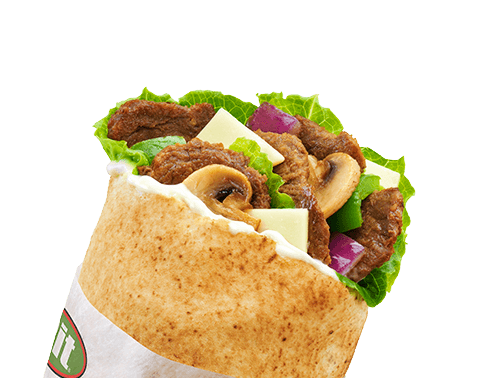 Shaved Steak Chicken Cage Free Eggs Black Bean Falafel Gyro Buffalo Bacon Spinach Lettuce Tomato Cucumber Olive Pepper Feta Jalapeno Pineapple Swiss Cheddar Sauces Spices